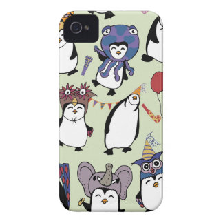 Party Penguins in Disguise iPhone 4 Cases