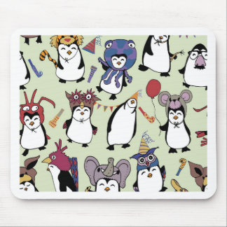 Party Penguins in Disguise Mouse Pad