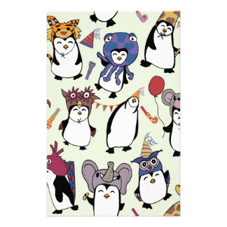 Party Penguins in Disguise Stationery