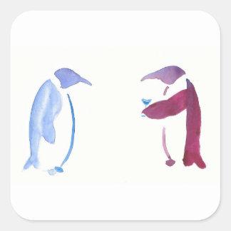 Party Penguins Square Sticker