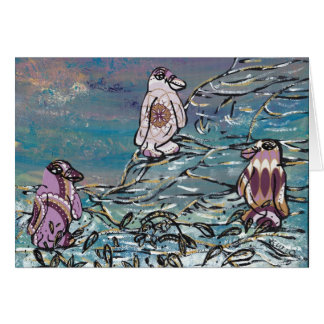 Party Penquins Greetings Card