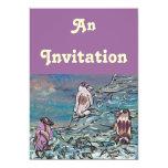 "Party Penquins Invitations 5"" X 7"" Invitation Card"