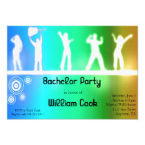 Party People Bachelor Party Invite