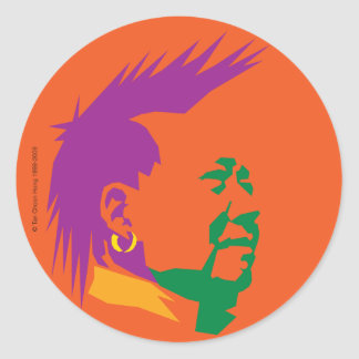 PARTY PEOPLE CLASSIC ROUND STICKER