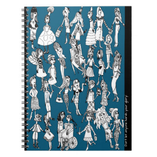 Party People Spiral Notebook