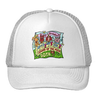 Party Pets 50th Birthday Gifts Trucker Hat