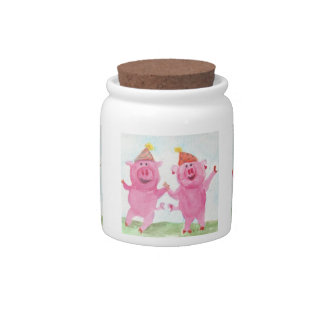 Party Pigs Treat Jar Candy Dish