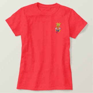 Party Pineapple Patch Embroidered T-Shirt