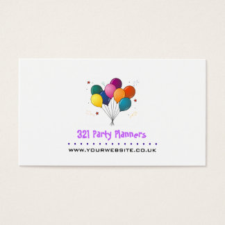 Party Planner Business Card (Balloon/Stars Logo)