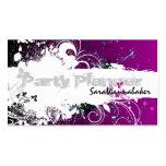 Party Planner Business Card Grunge Splatter Pink