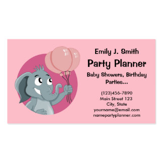 Party planner cartoon business card