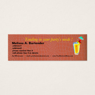 Party Planner  Coral Snakeskin for Male or Female Mini Business Card