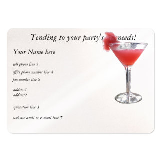 Party Planner Pearlized White Large Business Card