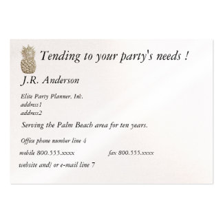 Party Planner Pineapple Hospitality industry Large Business Card