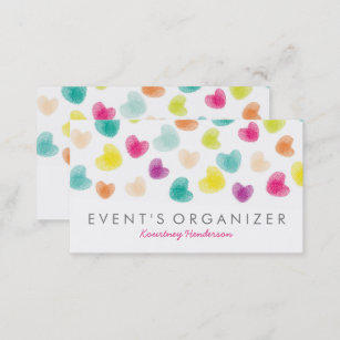 Professional organizer business cards templates zazzle party planner professional colourful confetti business card colourmoves