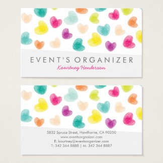 PARTY PLANNER PROFESSIONAL   COLOURFUL CONFETTI BUSINESS CARD