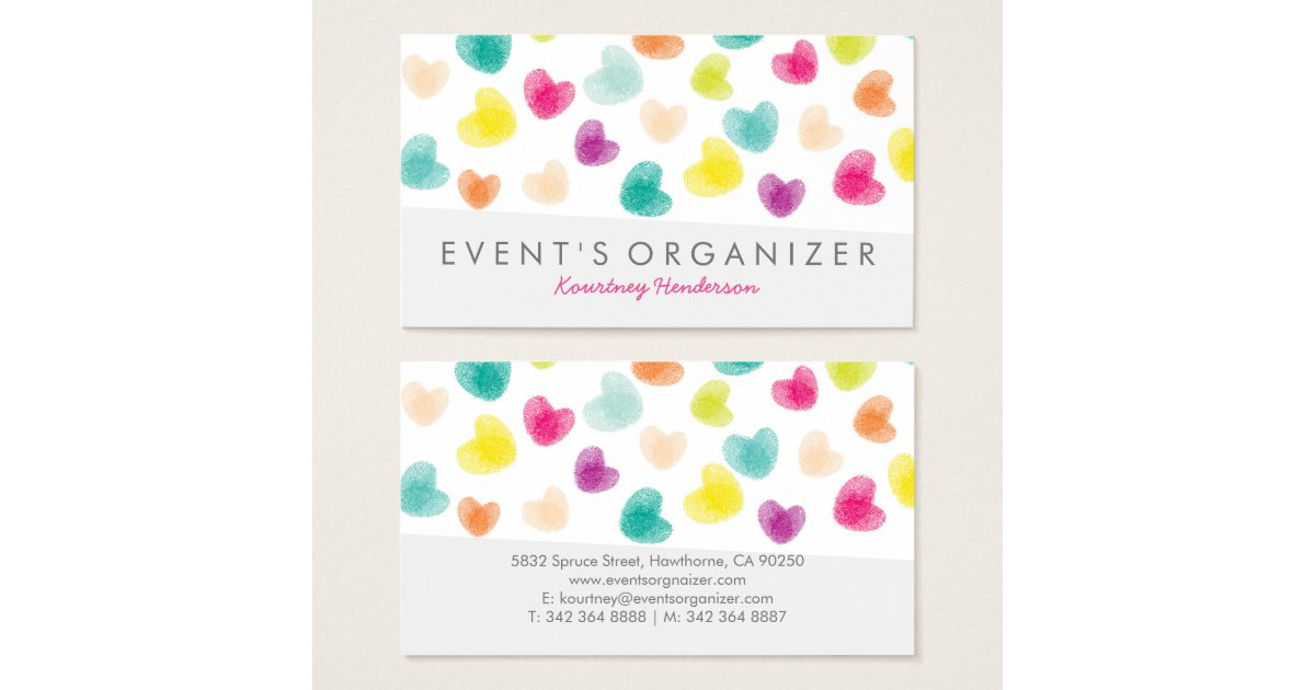PARTY PLANNER PROFESSIONAL | COLOURFUL CONFETTI BUSINESS CARD ...