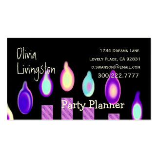PARTY PLANNER Purple Candles Business Card