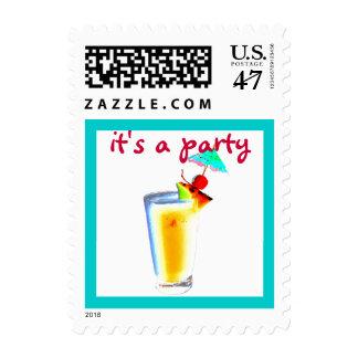 Party Planner Umbrella Drink Postage