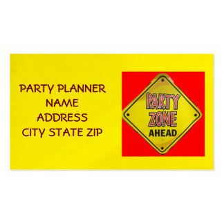 """""""PARTY PLANNER'S BUSINESS CARD"""