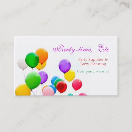 Party planners business cards template 010161 party planners business cards template colourmoves