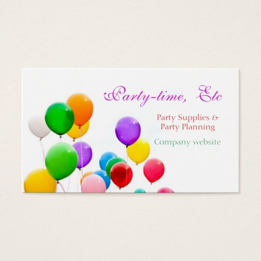 party planners business cards template. Black Bedroom Furniture Sets. Home Design Ideas