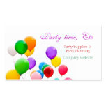 PARTY PLANNERS BUSINESS CARDS TEMPLATE