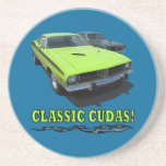 Party Plate With Classic Cudas Design Coasters