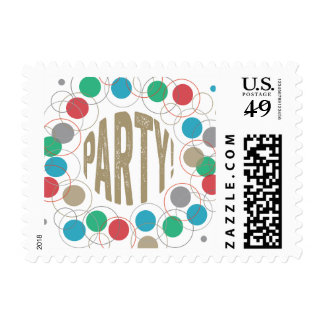Party Polka Dots Postage Stamp