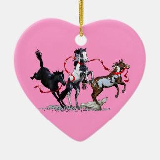 Party Ponies Ceramic Ornament