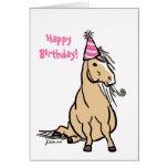 Party Pony Girls Birthday Card