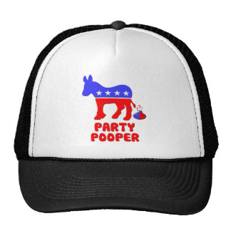 Party Pooper Politics Trucker Hat