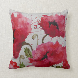 Party Poppies Pillow