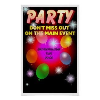 Party Poster - Customizable