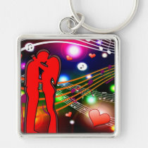 premium, square, keychain, party, waterproof, dance, music, gifts, family, birthday, Keychain with custom graphic design