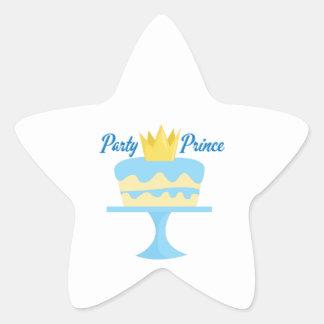 Party Prince Star Sticker