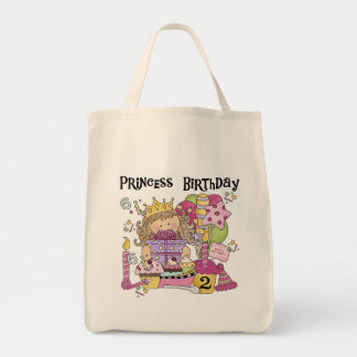 Party Princess 2nd Birthday Tshirts and Gifts Tote Bag