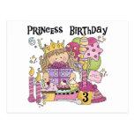 Party Princess 3rd Birthday Tshirts and Gifts Postcard