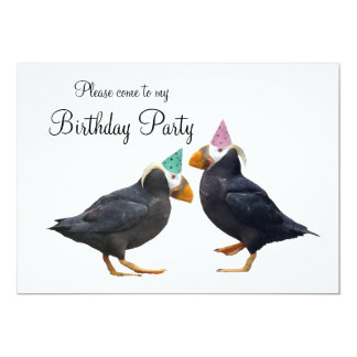 Party Puffins Birthday Invitation