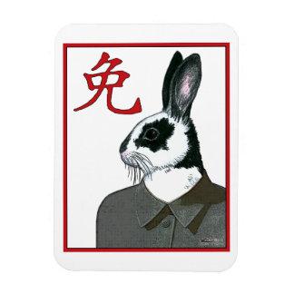 Party Rabbit Rectangular Photo Magnet