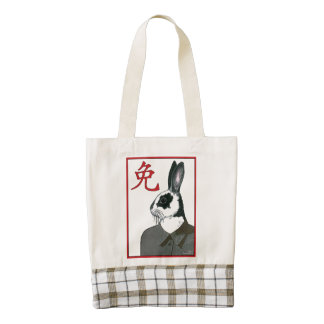 Party Rabbit Zazzle HEART Tote Bag