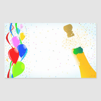 Party Rectangular Sticker