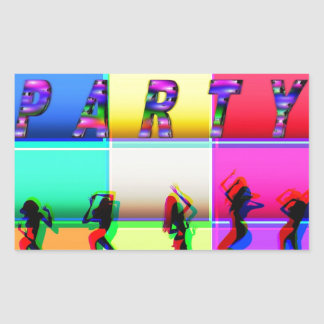Party Rectangular Sticker