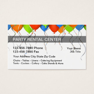 Party Rental Business Cards