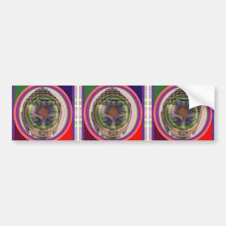 PARTY return gifts buttons magnets stickers BUDDHA Car Bumper Sticker