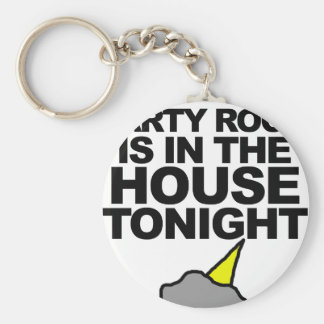 Party Rock Is In The House Tonight Keychain