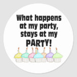 Party Round Sticker
