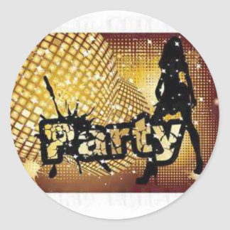 PARTY ROUND STICKERS