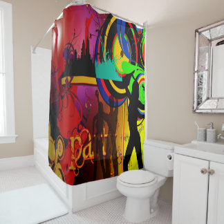 Party Scene With Dancers Shower Curtain