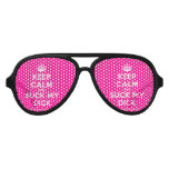 [Crown] keep calm and suck my dick  Party Shades